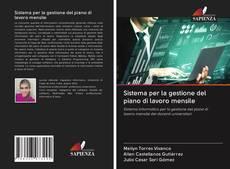 Bookcover of Sistema per la gestione del piano di lavoro mensile