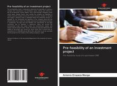 Capa do livro de Pre-feasibility of an investment project