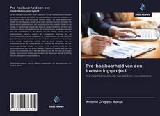Bookcover of Pre-haalbaarheid van een investeringsproject