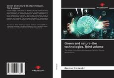 Capa do livro de Green and nature-like technologies. Third volume