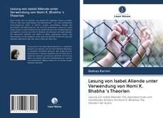 Обложка Lesung von Isabel Allende unter Verwendung von Homi K. Bhabha 's Theorien