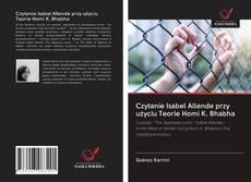 Borítókép a  Czytanie Isabel Allende przy użyciu Teorie Homi K. Bhabha - hoz