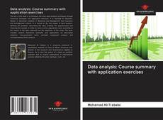 Capa do livro de Data analysis: Course summary with application exercises