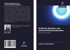 Kritisch denken van universiteitsstudenten kitap kapağı