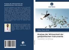 Обложка Analyse der Wirksamkeit der geldpolitischen Instrumente