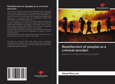Capa do livro de Resettlement of peoples as a criminal sanction
