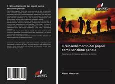 Portada del libro de Il reinsediamento dei popoli come sanzione penale