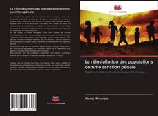Bookcover of La réinstallation des populations comme sanction pénale
