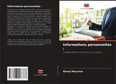 Bookcover of Informations personnelles :