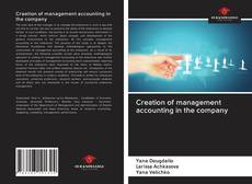 Bookcover of Creation of management accounting in the company