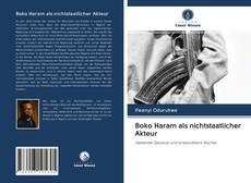 Boko Haram als nichtstaatlicher Akteur kitap kapağı