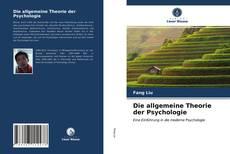Die allgemeine Theorie der Psychologie kitap kapağı