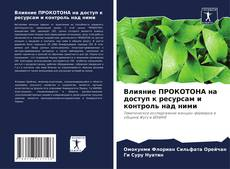 Buchcover von Влияние ПРОКОТОНА на доступ к ресурсам и контроль над ними