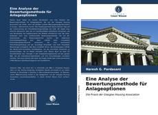 Bookcover of Eine Analyse der Bewertungsmethode für Anlageoptionen