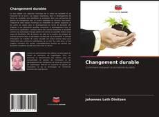 Portada del libro de Changement durable
