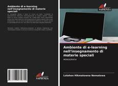 Buchcover von Ambiente di e-learning nell'insegnamento di materie speciali