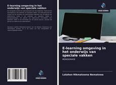 Capa do livro de E-learning omgeving in het onderwijs van speciale vakken