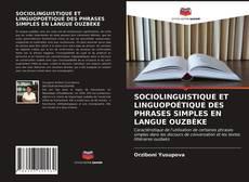 Portada del libro de SOCIOLINGUISTIQUE ET LINGUOPOÉTIQUE DES PHRASES SIMPLES EN LANGUE OUZBÈKE