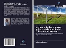Mathematische energie-milieumatrix voor India : Enkele onderwerpen kitap kapağı