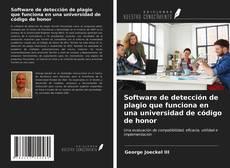 Couverture de Software de detección de plagio que funciona en una universidad de código de honor