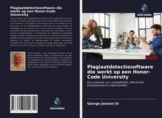 Bookcover of Plagiaatdetectiesoftware die werkt op een Honor-Code University