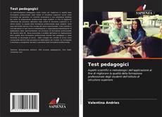 Capa do livro de Test pedagogici