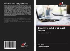 Direttive in L1 e L2 post laurea kitap kapağı