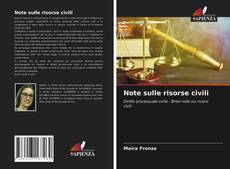 Capa do livro de Note sulle risorse civili