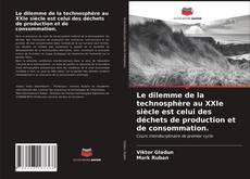 Bookcover of Le dilemme de la technosphère au XXIe siècle est celui des déchets de production et de consommation.