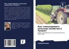 Portada del libro de Как стимулировать сельское хозяйство в Тунисе?