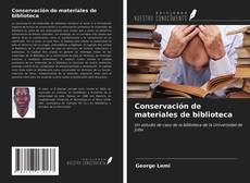 Conservación de materiales de biblioteca kitap kapağı