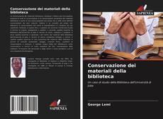 Conservazione dei materiali della biblioteca kitap kapağı