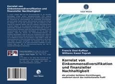 Bookcover of Korrelat von Einkommensdiversifikation und finanzieller Nachhaltigkeit