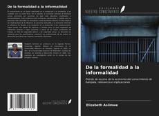Portada del libro de De la formalidad a la informalidad