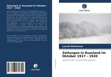 Bookcover of Zeitungen in Russland im Oktober 1917 - 1920
