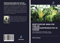 Bookcover of BIOFYSISCHE ANALYSE VAN DE LANDBOUWPRODUCTIE IN GHANA