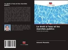 Couverture de Le droit à l'eau et les marchés publics