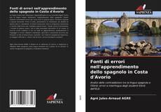 Copertina di Fonti di errori nell'apprendimento dello spagnolo in Costa d'Avorio