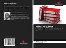 Couverture de Access to justice