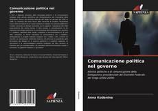 Capa do livro de Comunicazione politica nel governo