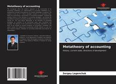 Bookcover of Metatheory of accounting