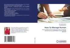 Capa do livro de How To Manage Human