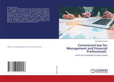 Capa do livro de Commercial law for Management and Financial Professionals
