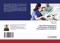 Обложка Non Pharmacological Techniques of Behavior Management in Children