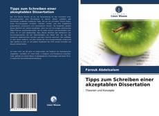 Buchcover von Tipps zum Schreiben einer akzeptablen Dissertation