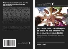 Buchcover von Factores que contribuyen al éxito de los directores de escuelas secundarias