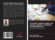 Buchcover von Czynniki mające wpływ na wyniki małych i średnich przedsiębiorstw
