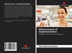Buchcover von Effectiveness of implementation