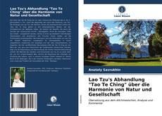 """Обложка Lao Tzu's Abhandlung """"Tao Te Ching"""" über die Harmonie von Natur und Gesellschaft"""