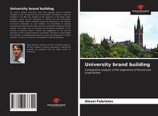 Bookcover of University brand building